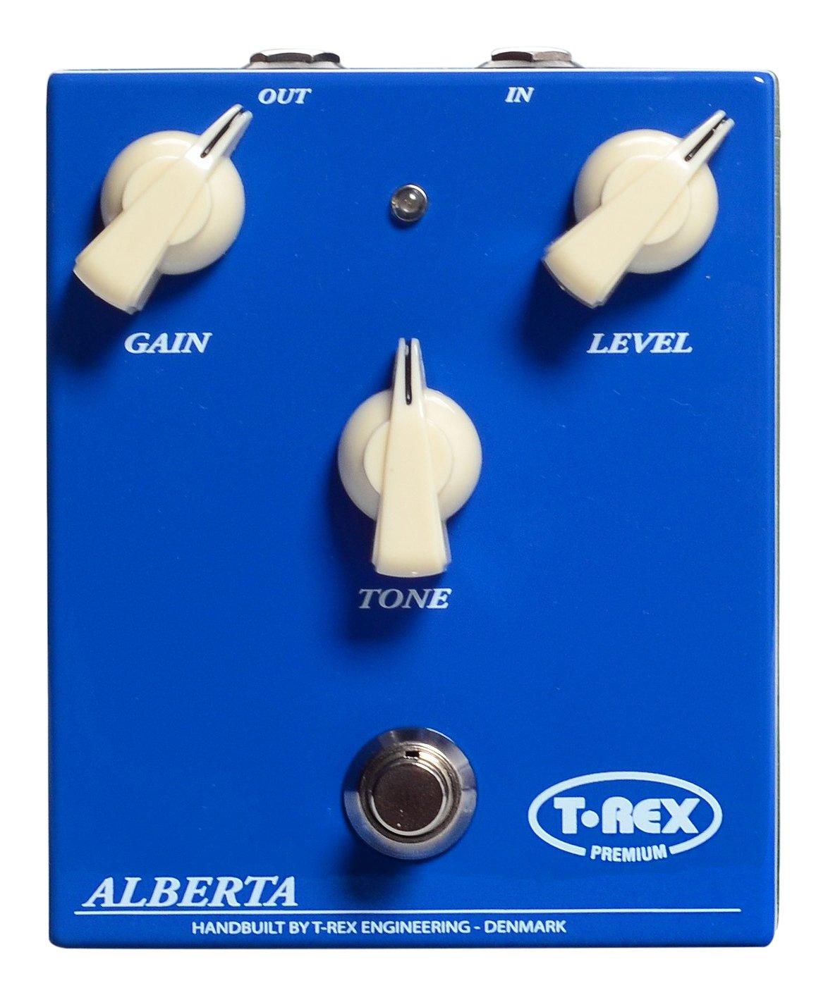 T-Rex エンジニアリング ALBERTA-CLASSIC オーバードライブ ギターエフェクトペダル ハンドワイヤー デンマーク製; ゲイン、レベル、トーン調整機能、高精度、最高品質部品(10041)   B074PPS67K