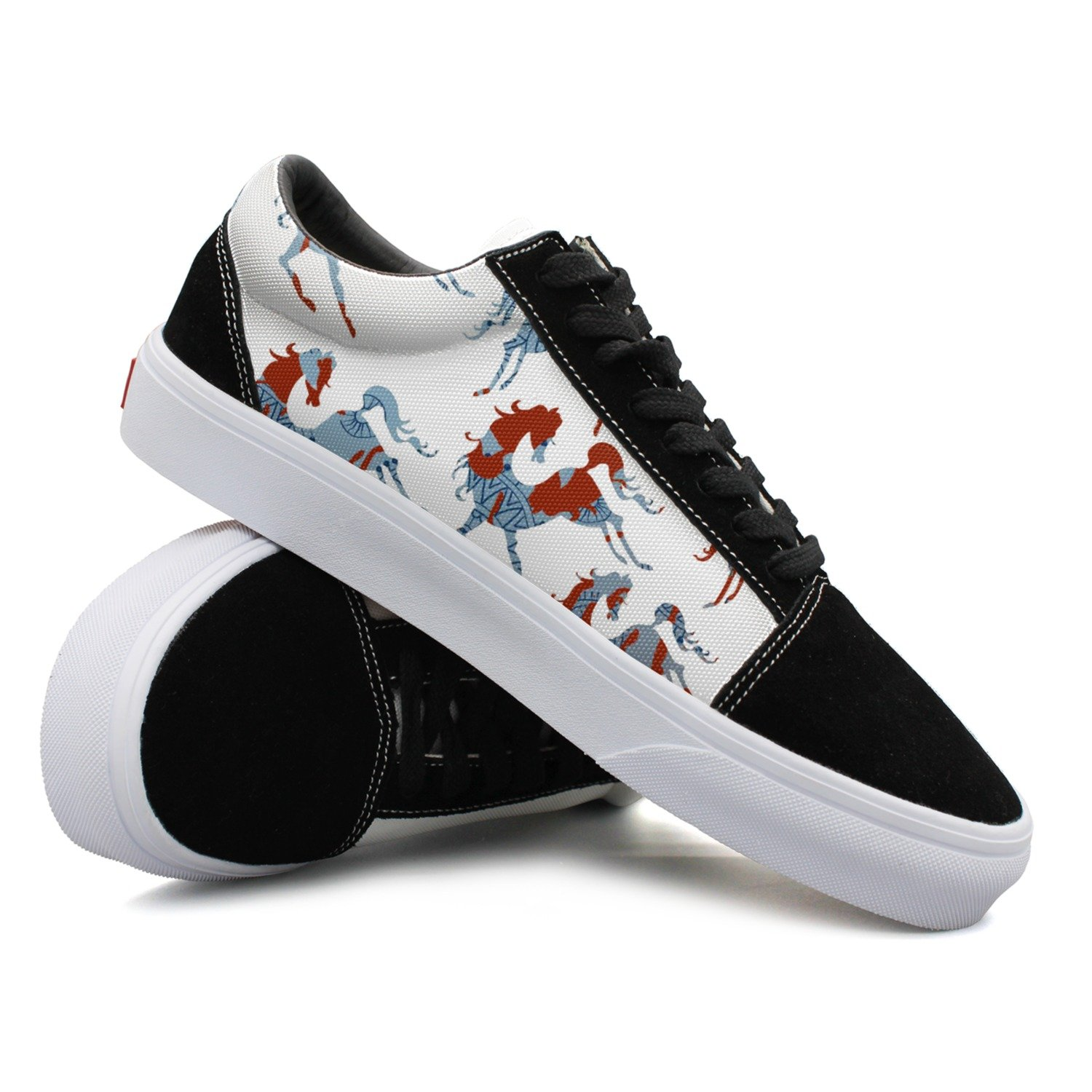Awesome Blue Horse Women Casual Sneakers Canvas Cool Fashion Designer