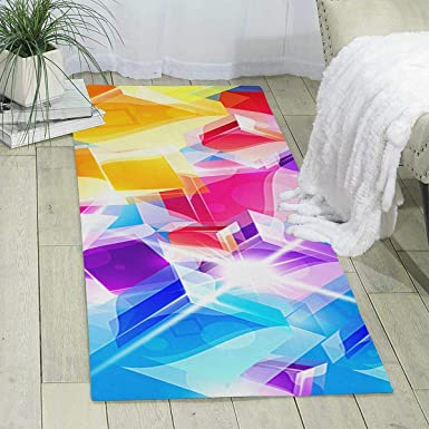 Amazon Com Workout Mat For Yoga Colored Pattern Print Area Rug