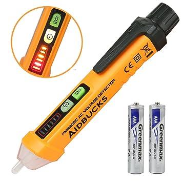 Detector De Voltaje Sin Contacto Aidbucks PM8908C 12V~1000V CA/ 50-60Hz Detector de Tensión Tipo de Pluma Comprobador de Corriente Alarma Tester ...