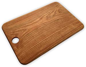 "Wild Black Cherry Cutting Board/Charcuterie Platter. Handmade in Michigan USA from local trees. No Glue. No Seams. 9.4"" x 14.4"" x 0.25"" (Black Cherry, 14.4"