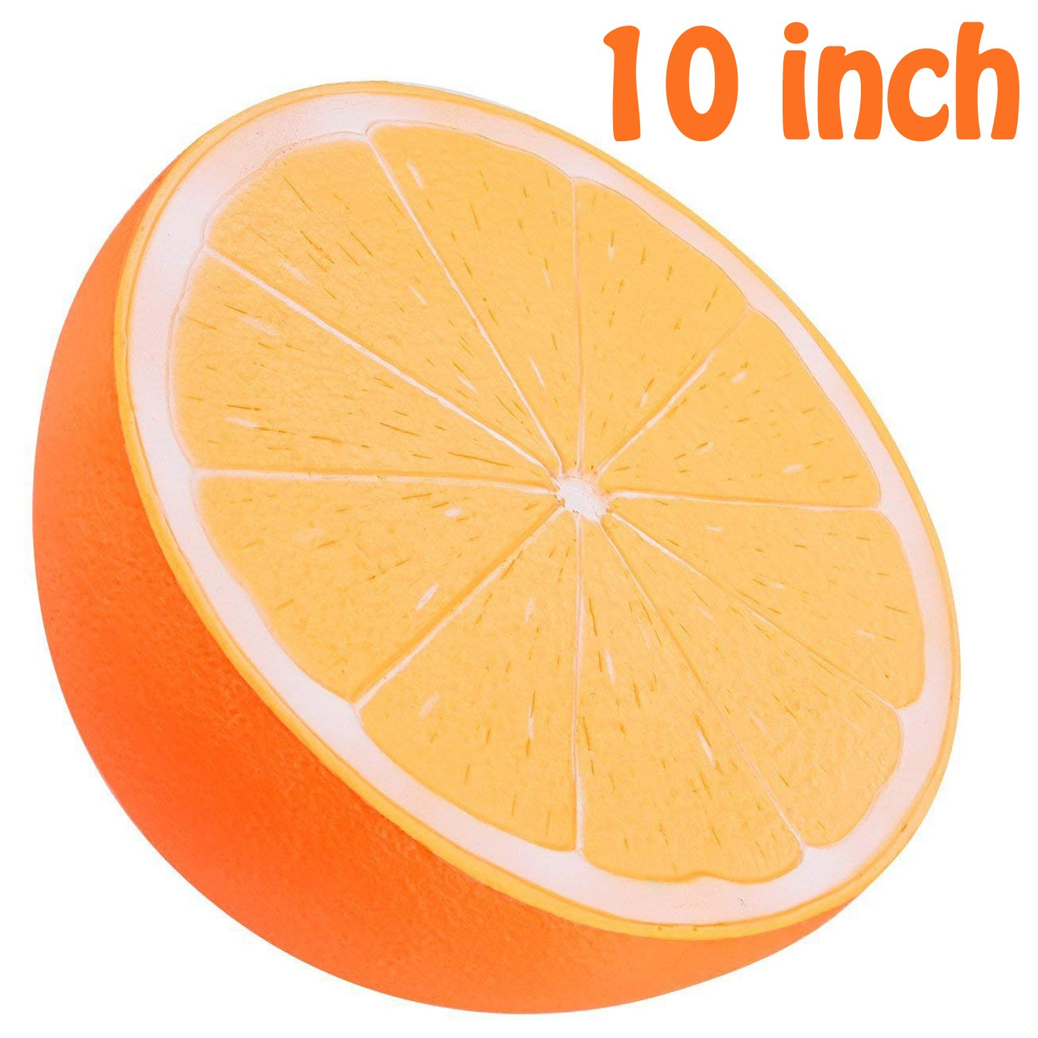 BeYumi Slow Rising Toy, 10 Inch Jumbo Orange Squishy Cream Scented Simulation Cute Fruit Squeeze Toys for Collection Gift, Decorative Props Large or Stress Relief
