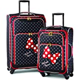 American Tourister Disney Softside Luggage with Spinner Wheels, Minnie Mouse Red Bow, 2-Piece Set (21/28)