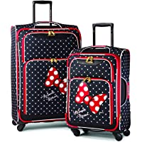 American Tourister Disney Softside Luggage with Spinner Wheels, Minnie Mouse Red Bow, 2-Piece Set (24/28)