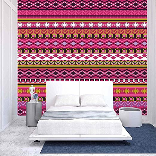 Amazon Com 116x83 Inches Wall Mural Traditional African Motifs And Borders Ethnic Tribal Accents Vintage Native Folk Art Decorative Peel And Stick Self Adhesive Wallpaper Removable Large Wall Sticker Wall Decor Home Kitchen