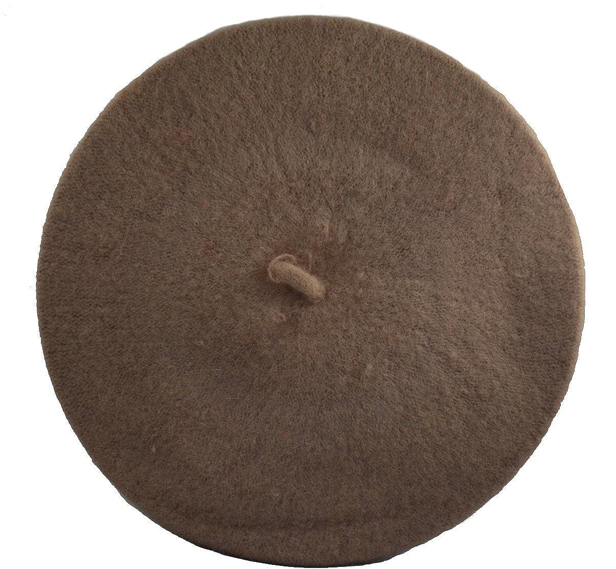 Classic Wool Beret Cap Hat-brown