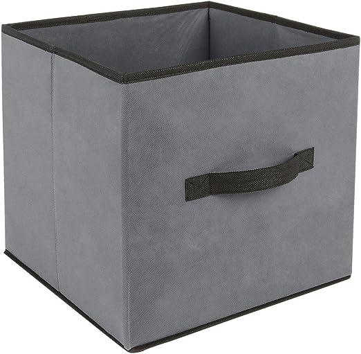 Caja de almacenamiento 31 x 31 cm, color Gris: Amazon.es: Hogar