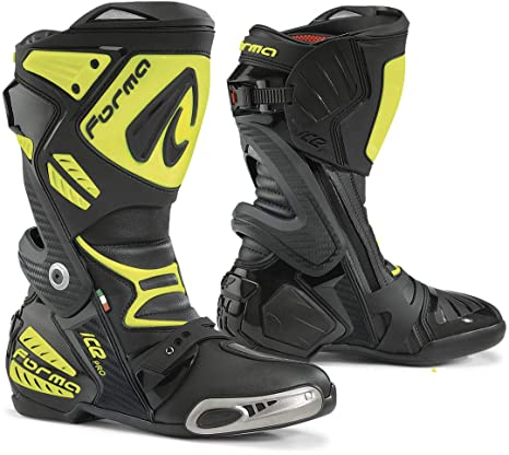 Forma FORV220-997838 Botas Moto Ice Pro Homologadas CE, Negro/Amarillo Fluo,