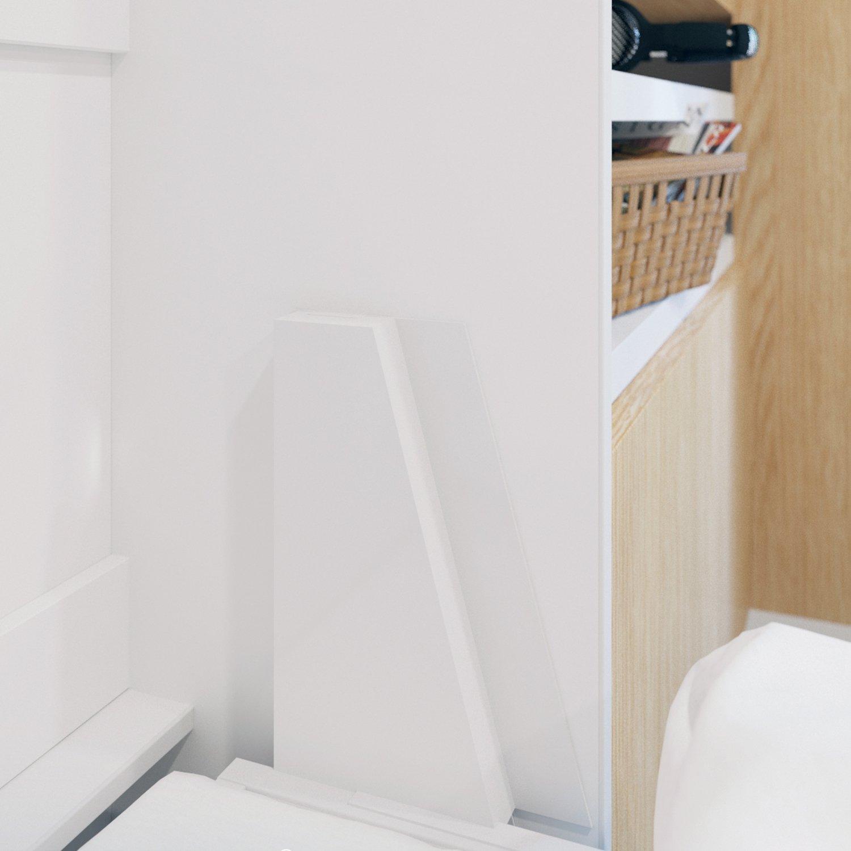 Schrankbett 160x200 weiss mit Gasdruckfedern, ideal als Gästebett ...