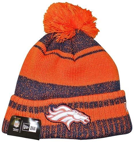 Amazon.com   NFL Denver Broncos Adult Glacial Pom Knit Beanie 1077524eb396