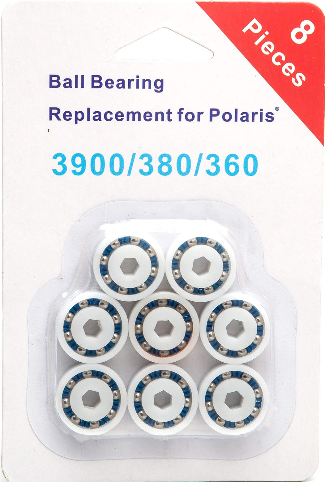 PoolSupplyTown 8 Pack Wheel Ball Bearing Replacement for Polaris 360, 380, 3900 Sport, ATV Pool Cleaners Part No. 9-100-1108 by ATIE