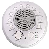 SONEic - Sleep, Relax and Focus Sound Machine. 10 Soothing White Noise and Natural Sound Tracks, with Timer Option. Crystal Clear Quality Sound Speaker & Headphone Jack. USB or Battery Powered - White