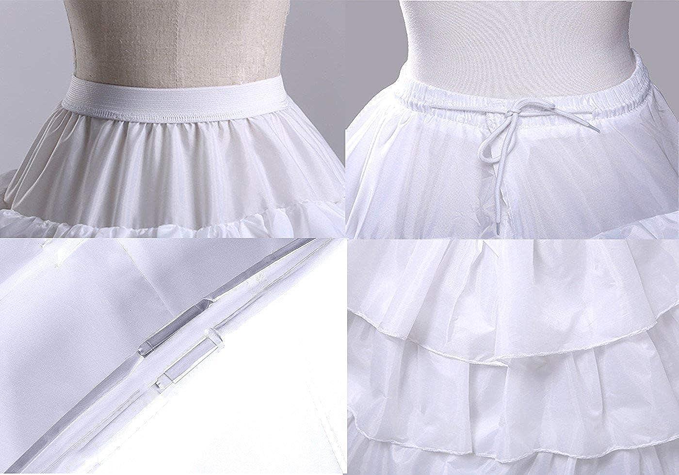 FuliMall Reifrock Petticoat Unterrock Petticoat Reifrock 4 Ring 5 Flouncing Hochzeit Petticoat Brautkleider Reifrock Krinoline Petticoat Unterrock f/ür Brautkleid Petticoat
