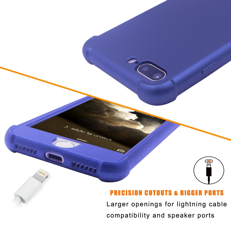 Soporte para anillo de teléfono y soporte de 2 piezas, soporte de metal para el dedo, anillo de soporte para el coche para iPhone 6S Plus/7 Plus, ...