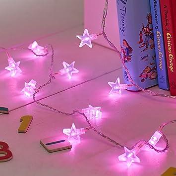 30er LED Lichterkette Sterne warmweiß Lights4fun: Amazon.de: Küche ...
