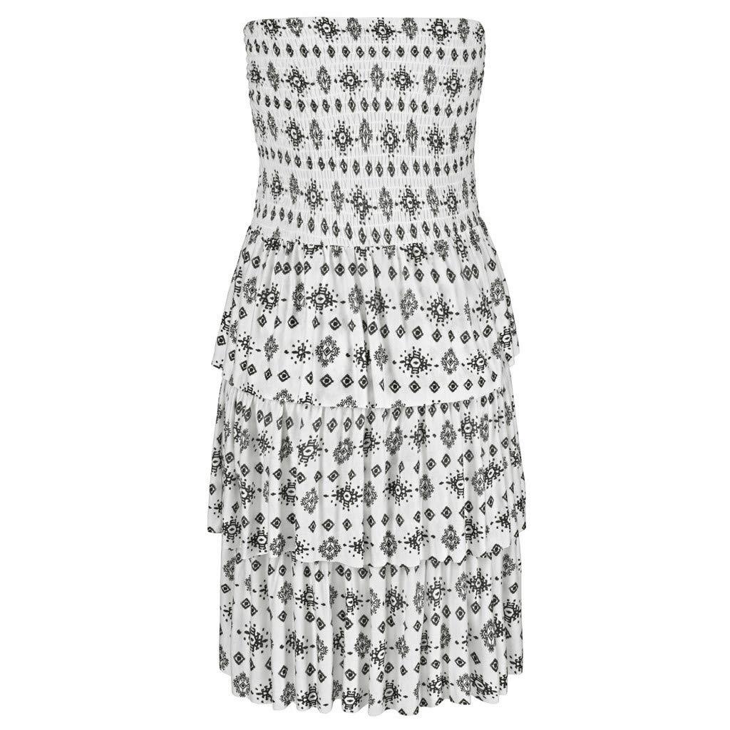LIEJIE Halter Neck Boho Print Sleeveless Casual Mini Beachwear Dress Sundress Dresses for Women Plus Size