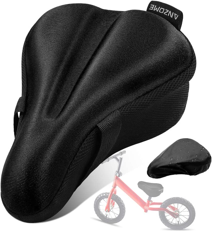 Bike Seat Cover Extra Soft Memory Foam Bicycle Saddle Water Resistant