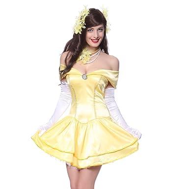 Robe princesse belle disney adulte mod les populaires de robes de soir e - Robe la belle et la bete adulte ...