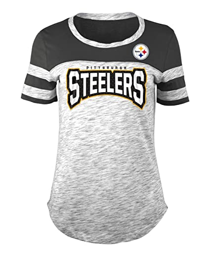 Image Unavailable. Image not available for. Color  New Era Pittsburgh  Steelers Women s NFL Catch Space Dye Short Sleeve Shirt fb018f14d