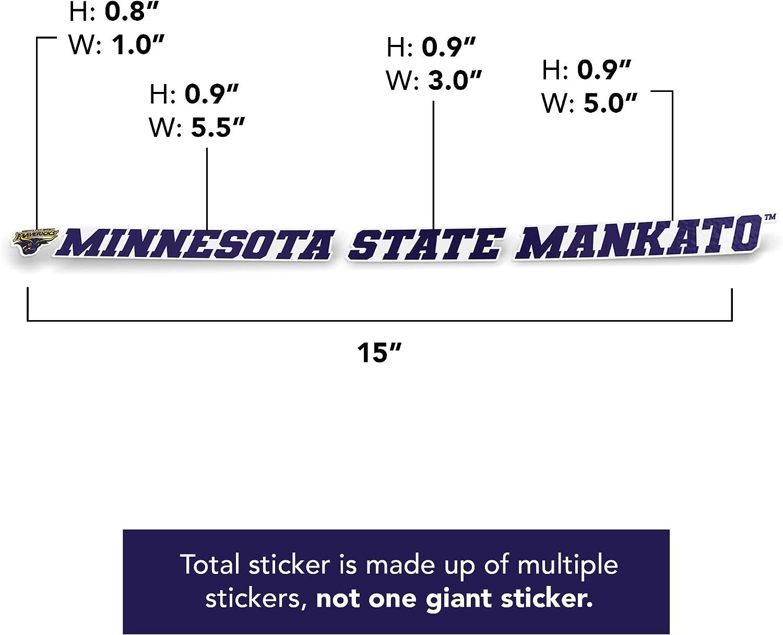 15 Inch Sticker Minnesota State University Mankato MNSU Mavericks NCAA Name Logo Vinyl Decal Laptop Water Bottle Car Scrapbook
