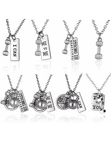 WSCDEH/Frauen M/änner Mehrschichtige B/ärenkette Anh/änger Halskette Retro Titan Stahl Halsketten///Pers/önlichkeit Modeaccessoires
