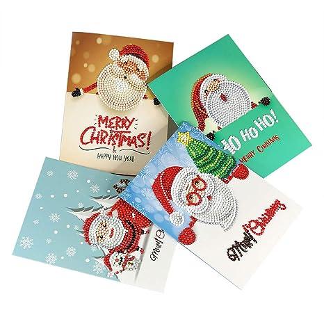 AWFAND Tarjeta de felicitación de Navidad DIY Pintura de ...