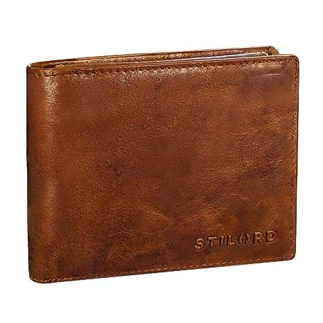 STILORD Ethan Cartera de Elegante Piel Vintage para Hombre Billetera y Monedero Masculino para Tarjetas Monedas y Billetes de auténtico Cuero, ...