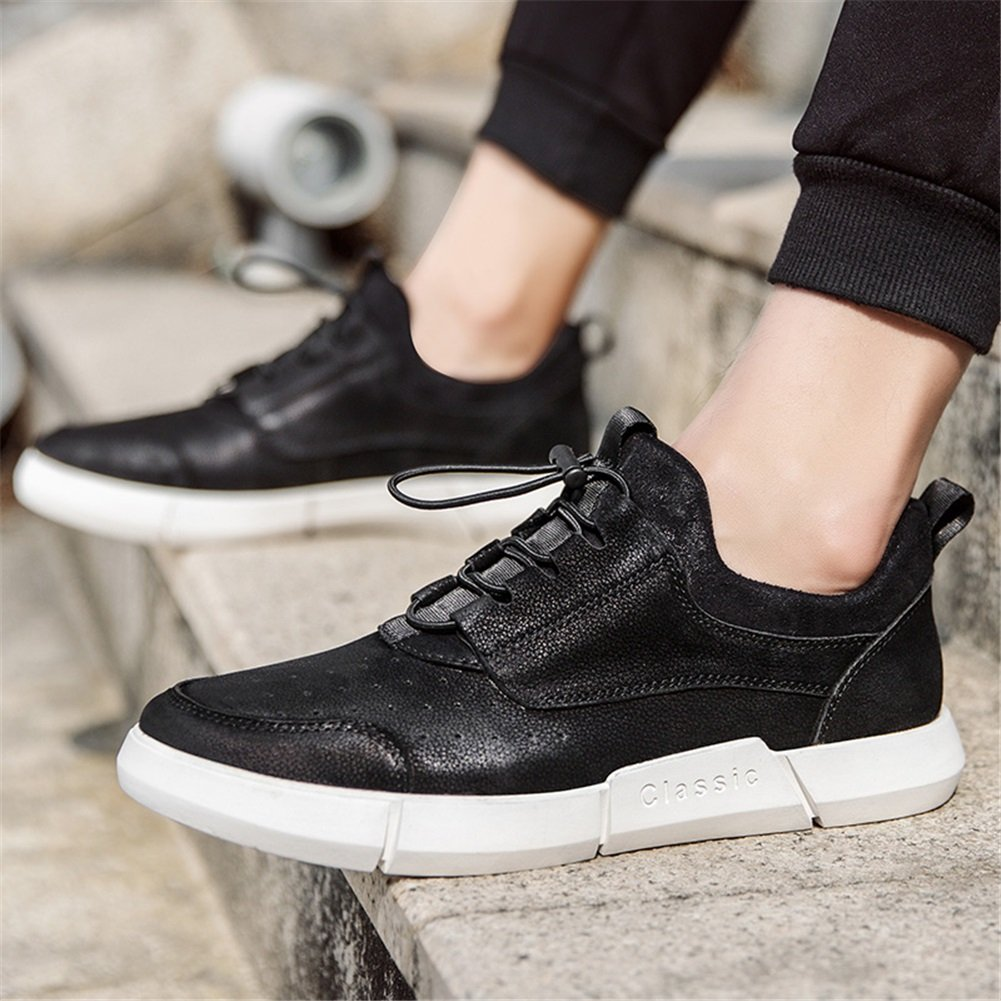 Color : A, Size : 41 XUEXUE Mens Shoes Leather Spring Fall Driving Shoes Comfort Sneakers Sneakers Casual Office /& Career Outdoor Running Shoes Walking Shoes Casual Travel Athletic Shoes