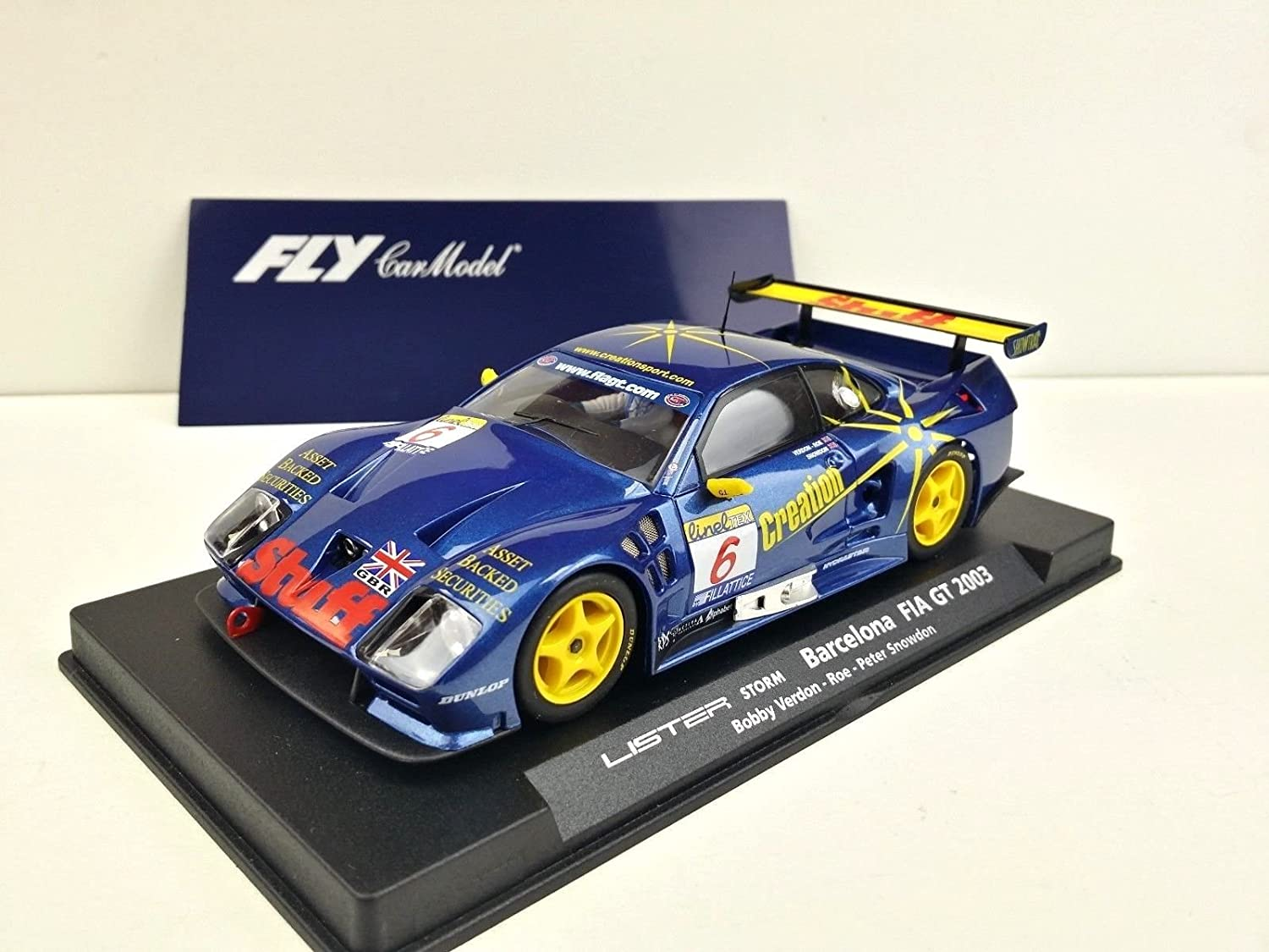 FLy Slot SCX Scalextric 88057 A403 Lister Storm Barcelona Fia GT 2003 Nordm;6