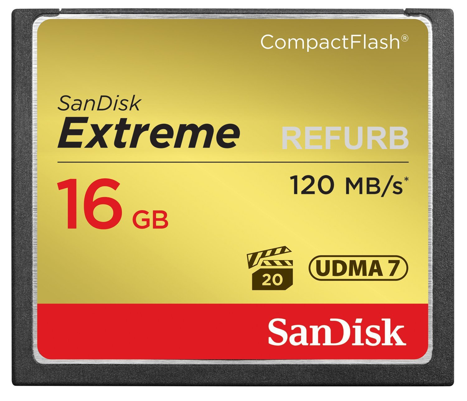 SanDisk Extreme 16GB CompactFlash Memory Card UDMA 7 Speed Up To 120MB/s-SDCFXS-016G-X46 (Certified Refurbished)