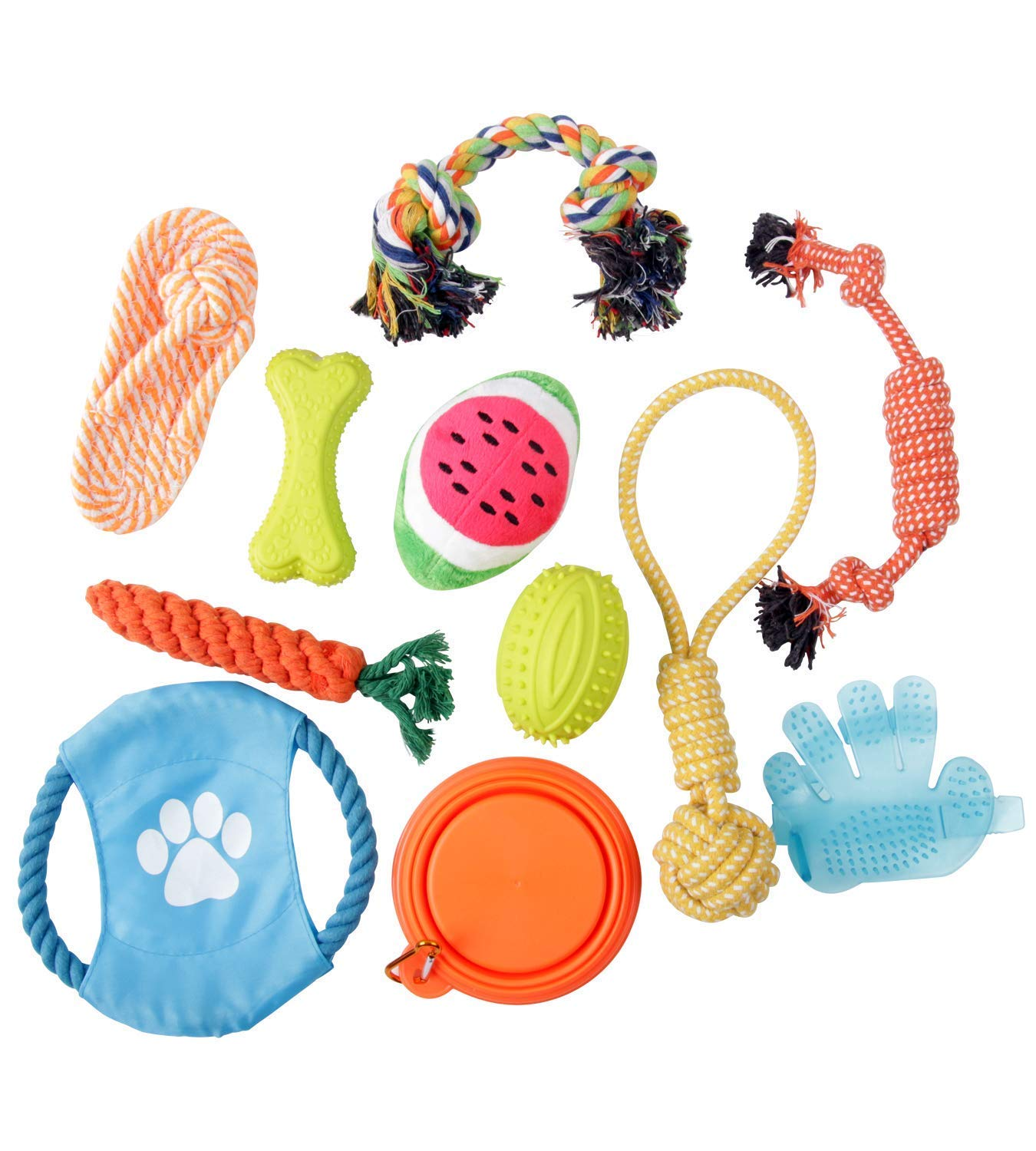 Royalwise Dog Toys Set Pet Rope Toys Value Pack Puppy Dog Cotton Chew Toy Assortment 14 Pcs for Small Medium Large Dogs