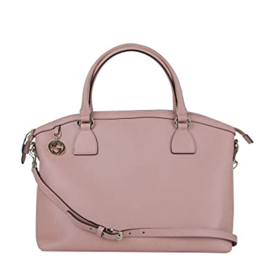 882bca51a Amazon.com: Gucci GG Charm Powder Pink Leather Large Convertible Dome Bag  with Strap 449660 5806: Shoes