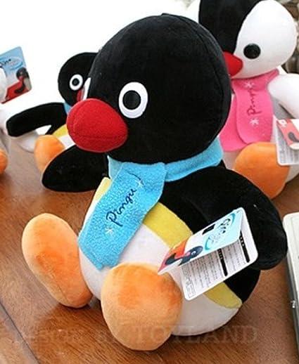 Pingouin En Peluche Noire Pingu 25 Cm Amazon Fr Cuisine