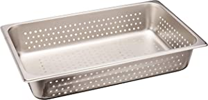 Winco Full Size Pan Perforated, 4-Inch