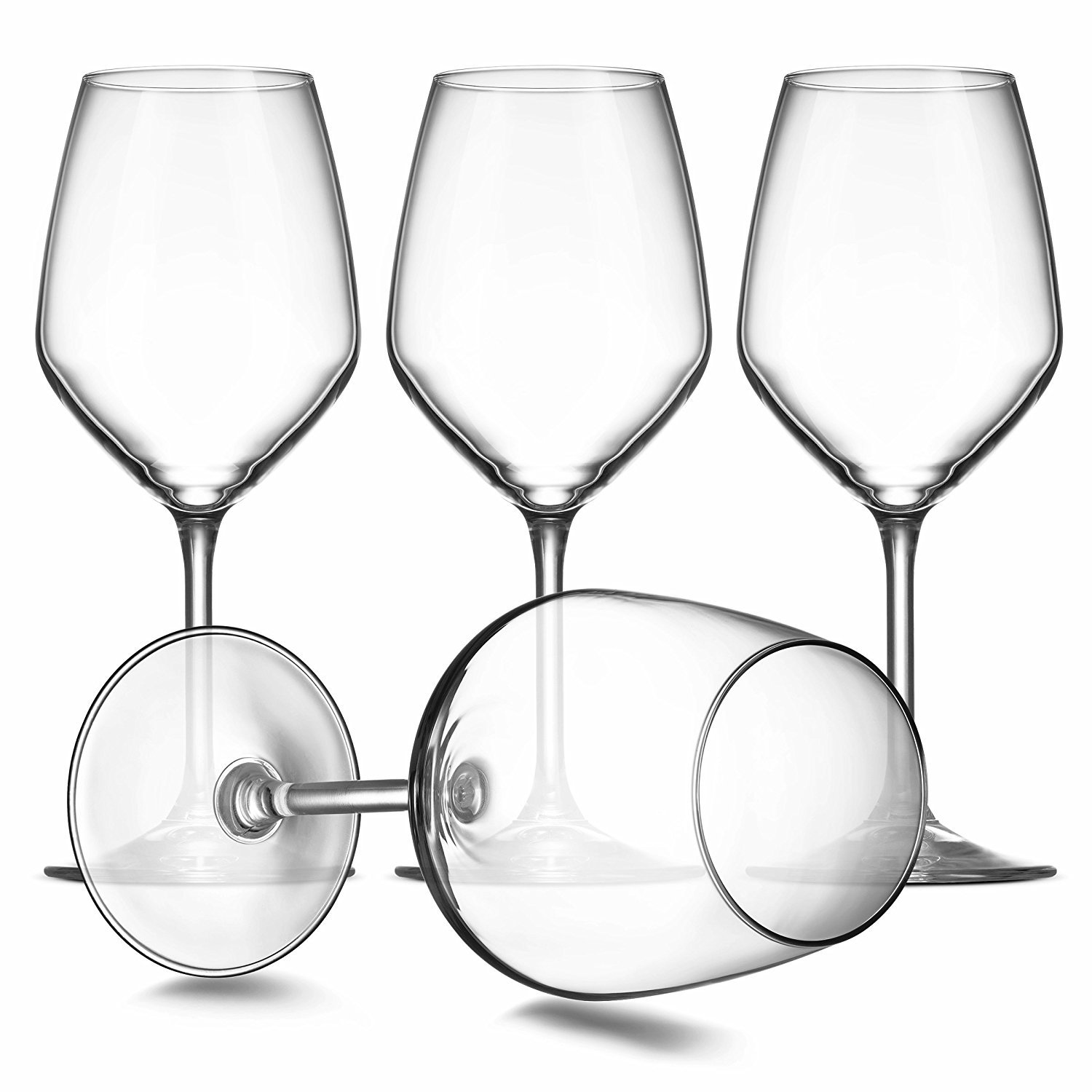 Paksh Novelty Italian White Wine Glasses - 15 Ounce - Lead Free - Shatter Resistant - Wine Glass, Clear (Set of 8) by Paksh Novelty (Image #2)