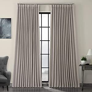 HPD Half Price Drapes BOCH-LN1858-108-DW Faux Linen Extra Wide Blackout Room Darkening Curtain (1 Panel), 100 X 108, Clay
