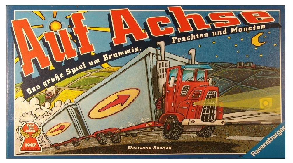 Auf Achse: Das Spiel um Brummis, Frachten und Moneten. Spiel des Jahres 87