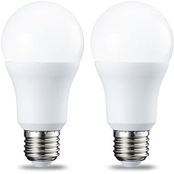 AmazonBasics Bombilla LED Esférica E27, 10W (equivalente a 75W), Blanco Frío - 2 unidades: Amazon.es: Iluminación