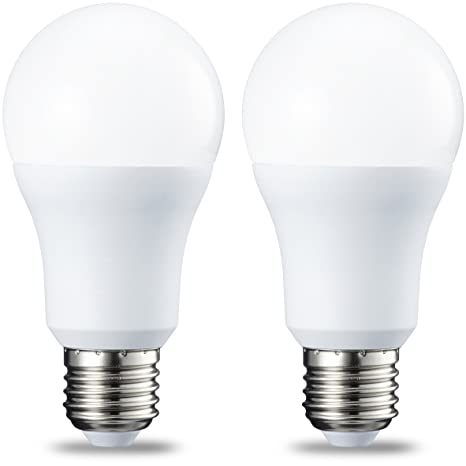 AmazonBasics Bombilla LED Esférica E27, 10W (equivalente a 75W), Blanco Frío -