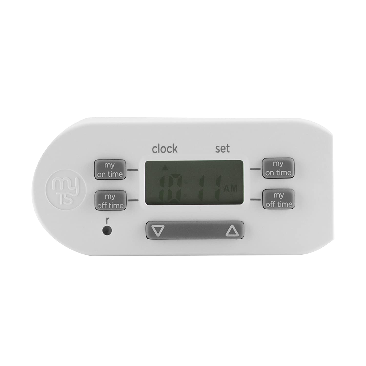 Mytouchsmart Indoor Digital Timer Switch, Plug In, 1 Polarized Outlet, 4