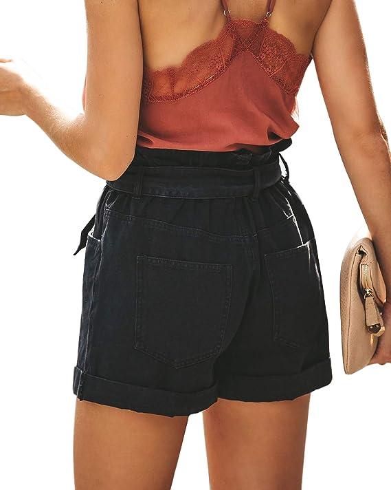 Amazon.com: Tengo pantalones cortos de algodón de cintura ...