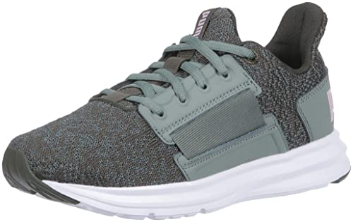 PUMA Womens ENZO Street Knit Interest Sneaker, Forest Night-Laurel Wreath-Winsome Orchid