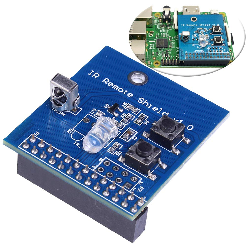 IR Transmitter Infrared Remote Hat Expansion Board 38KHz Transceiver Shield for Raspberry Pi RPi B+/2B/3B by IS