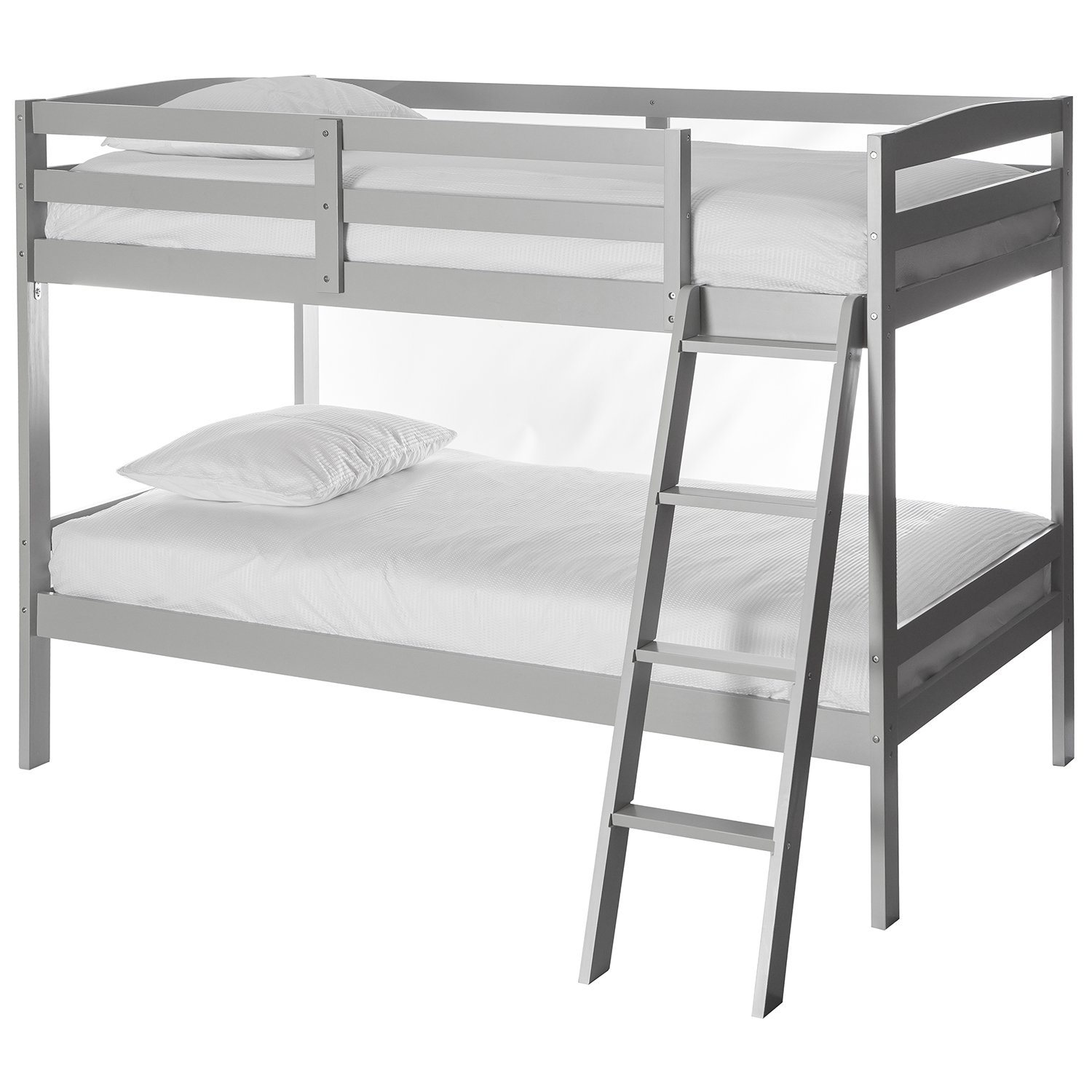 Dream On Me Taylor 2-in-1 Twin Over Bunk Bed, Gray, 99 Pound 708-G