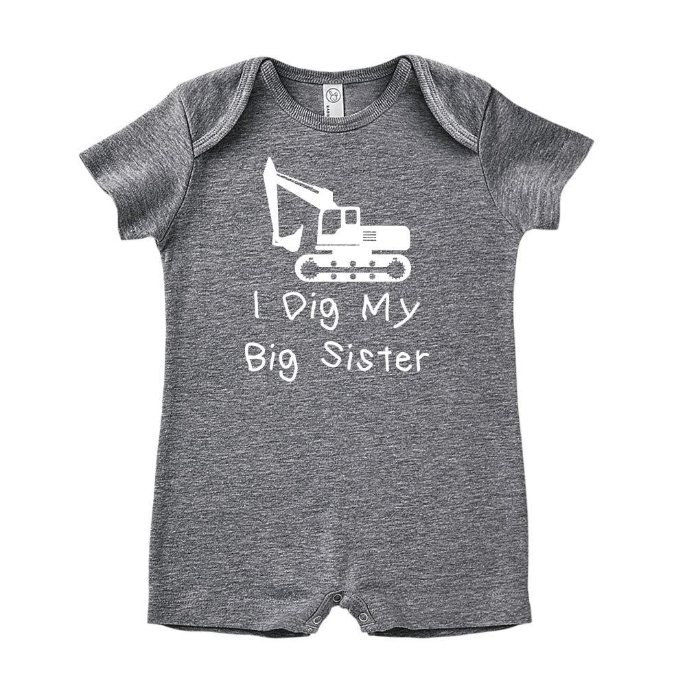 Mashed Clothing I Dig My Big Sister Baby Romper