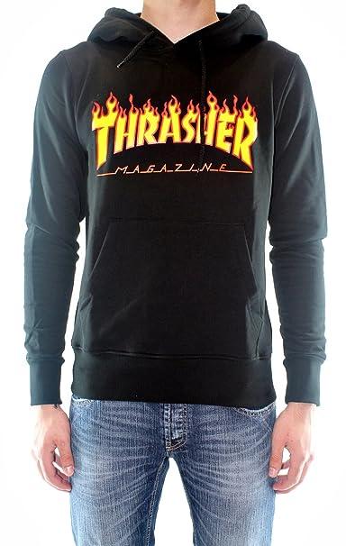 THRASHER - Sudadera - para Hombre Negro X-Large: Amazon.es: Ropa y accesorios