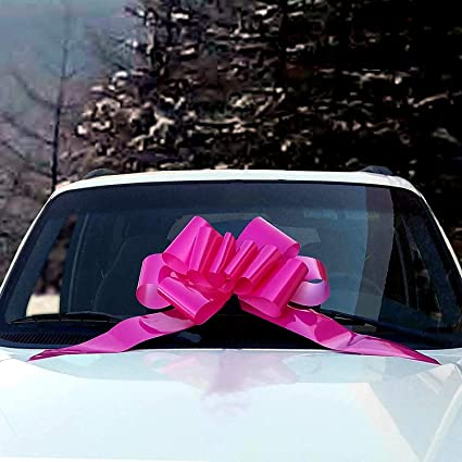 """25/"""" Giant Light Blue Ribbon Car Bow Magnetic Decoration Baby Birthday Gift"""