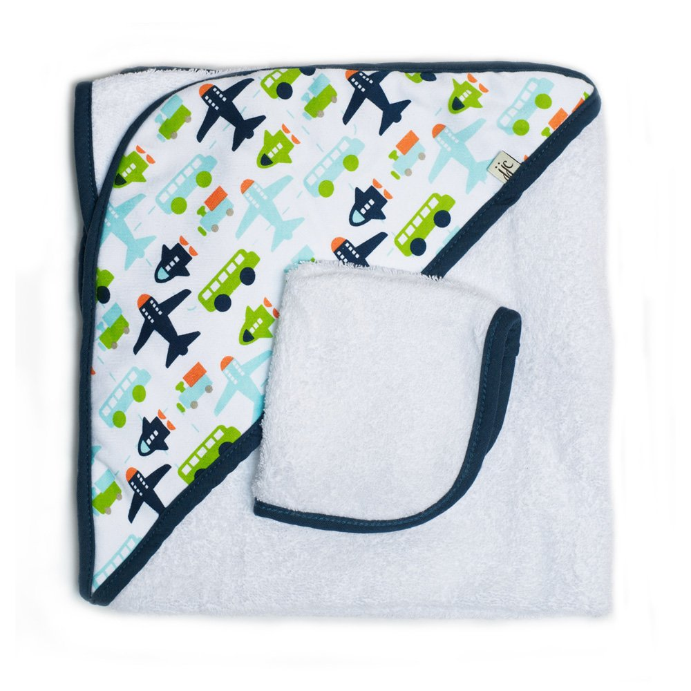 Jj Cole Two-Piece Hooded Towel Set Aqua Whales JTHQW