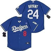 YENDZ Camiseta de Bryant de los Dodgers No.8 No.24, Camiseta de béisbol para Hombre edición Conmemorativa de los…