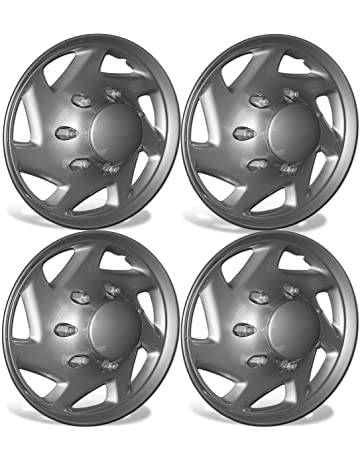 amazon hubcaps hubcaps trim rings hub accessories 2008 Yaris Hatchback Fuse Diagram 16 inch hubcaps best for ford trucks cargo vans set of 4